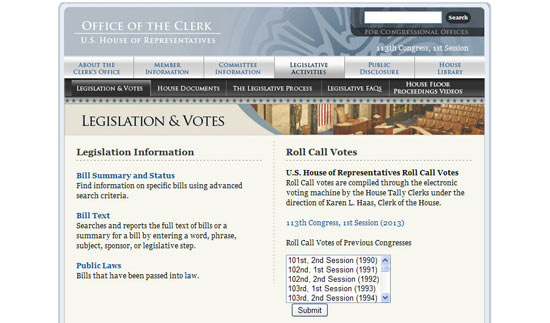 How to Read Roll Call Votes on Clerk Website